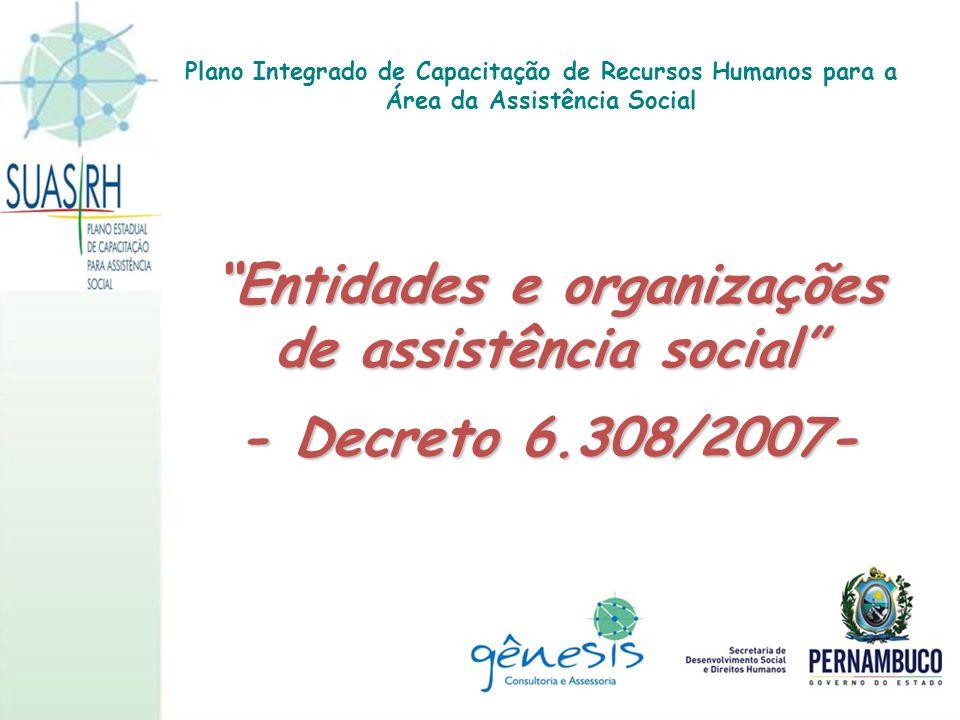 Entidades e organizações de assistência social
