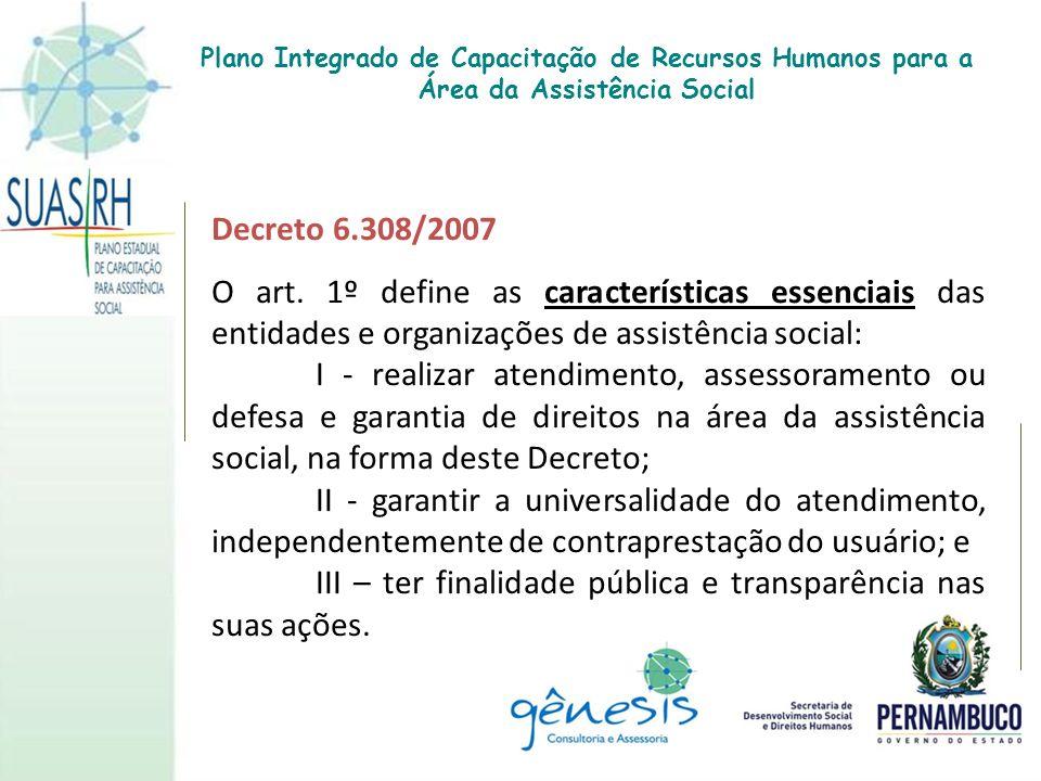 III – ter finalidade pública e transparência nas suas ações.