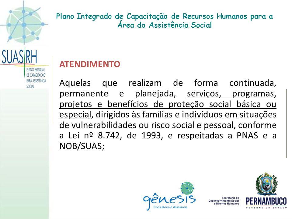 Plano Integrado de Capacitação de Recursos Humanos para a Área da Assistência Social