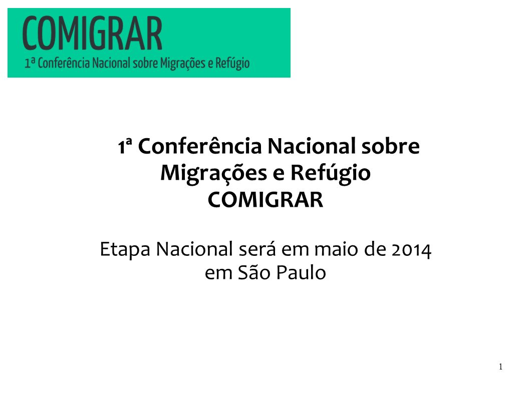 1ª Conferência Nacional sobre