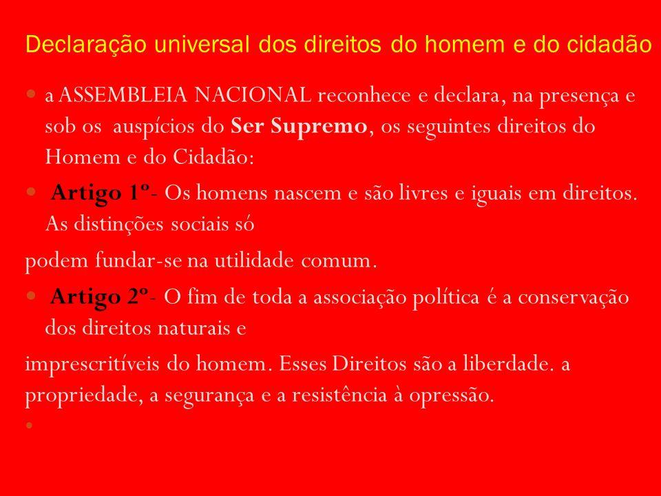 Declaração universal dos direitos do homem e do cidadão