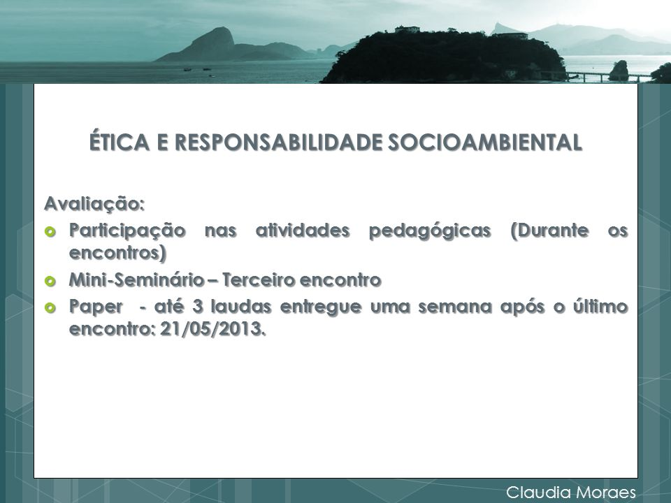 ÉTICA E RESPONSABILIDADE SOCIOAMBIENTAL