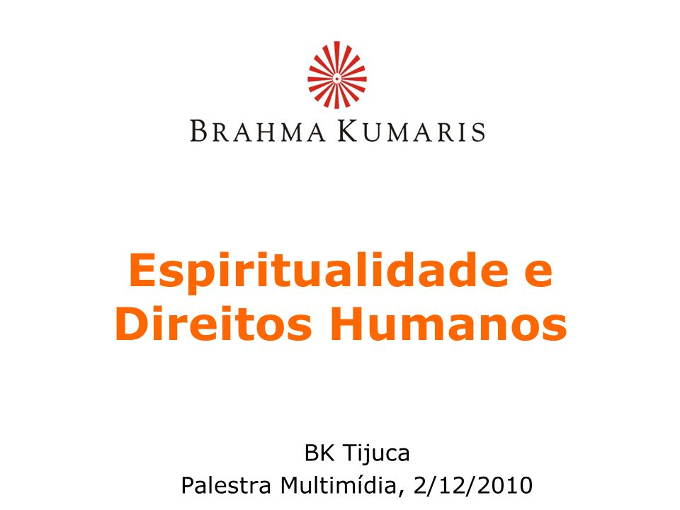 Espiritualidade e Direitos Humanos