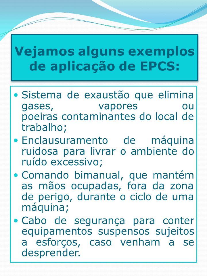 Vejamos alguns exemplos de aplicação de EPCS: