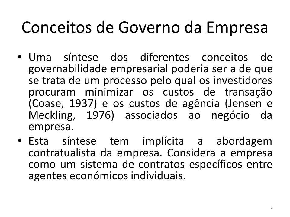 Conceitos de Governo da Empresa