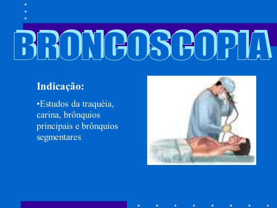 BRONCOSCOPIA Indicação: