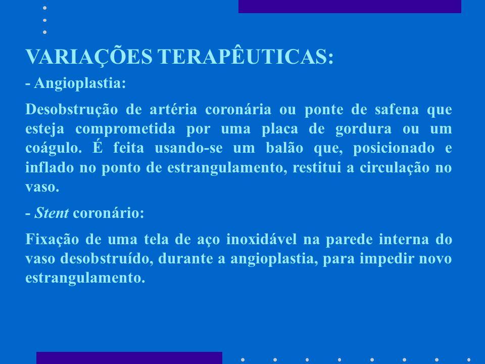 VARIAÇÕES TERAPÊUTICAS: