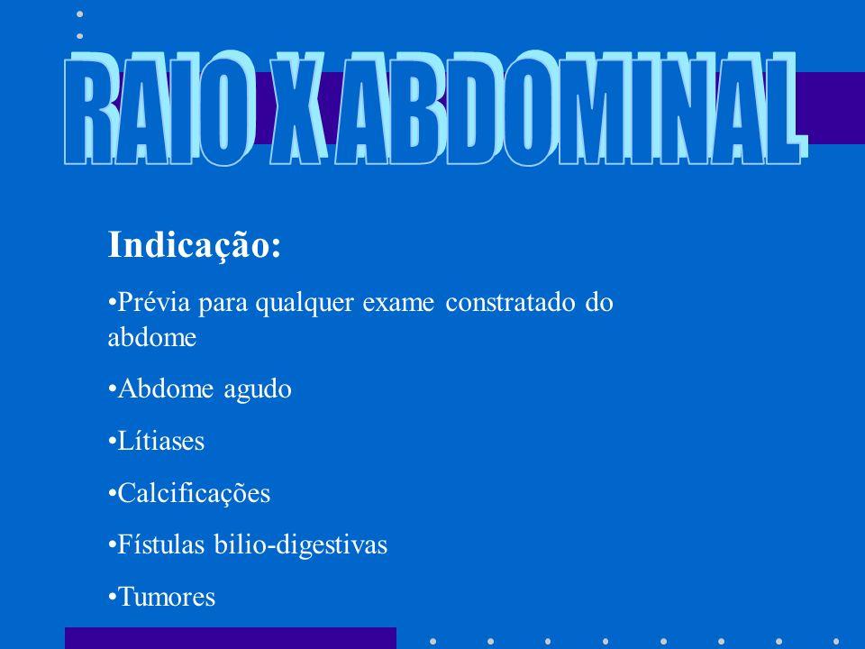 RAIO X ABDOMINAL Indicação:
