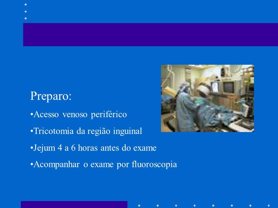 Preparo: Acesso venoso periférico Tricotomia da região inguinal