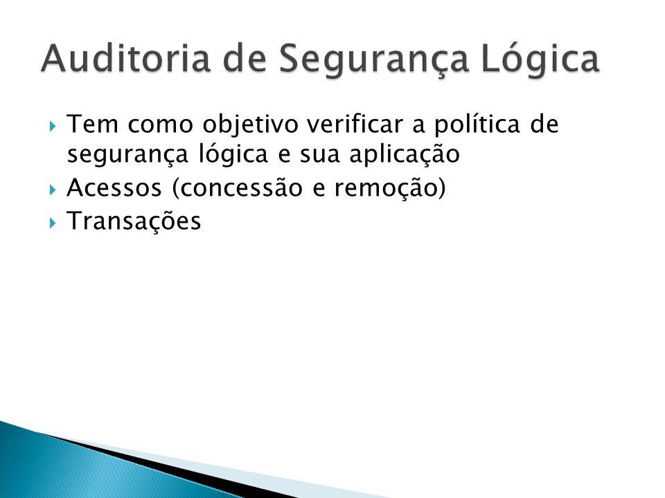 Auditoria de Segurança Lógica
