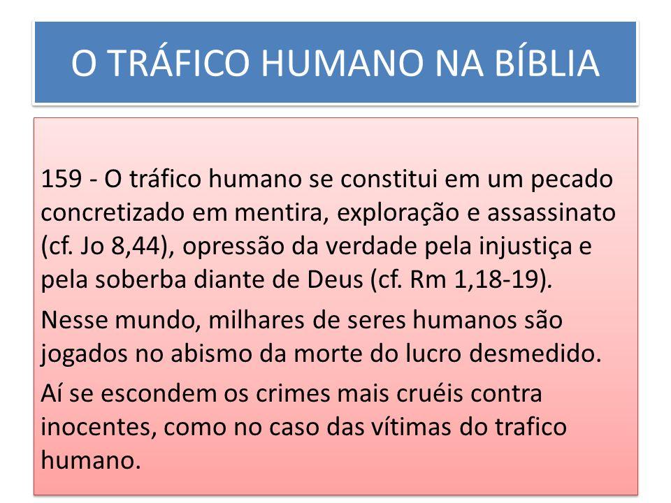 O TRÁFICO HUMANO NA BÍBLIA