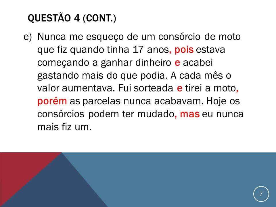 QUESTÃO 4 (cont.)