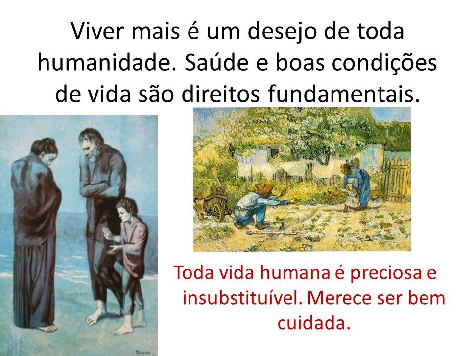 Toda vida humana é preciosa e insubstituível. Merece ser bem cuidada.