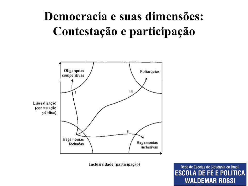 Democracia e suas dimensões: Contestação e participação