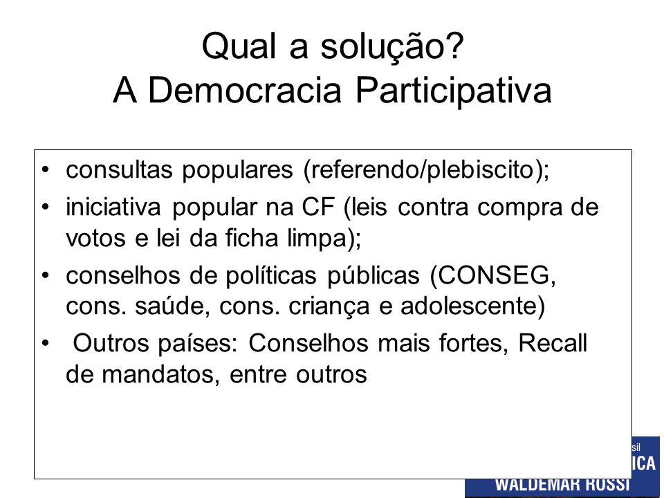 Qual a solução A Democracia Participativa