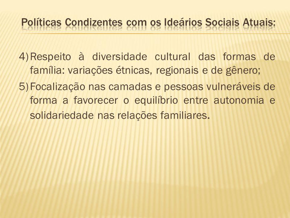 Políticas Condizentes com os Ideários Sociais Atuais: