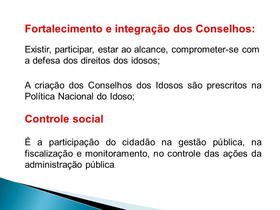Fortalecimento e integração dos Conselhos: