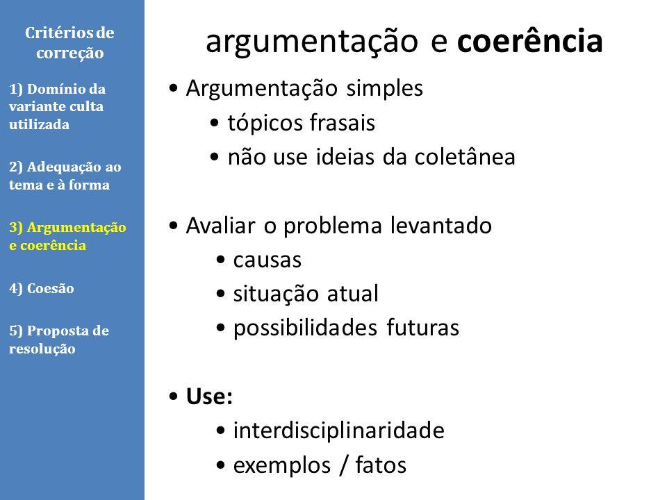 argumentação e coerência