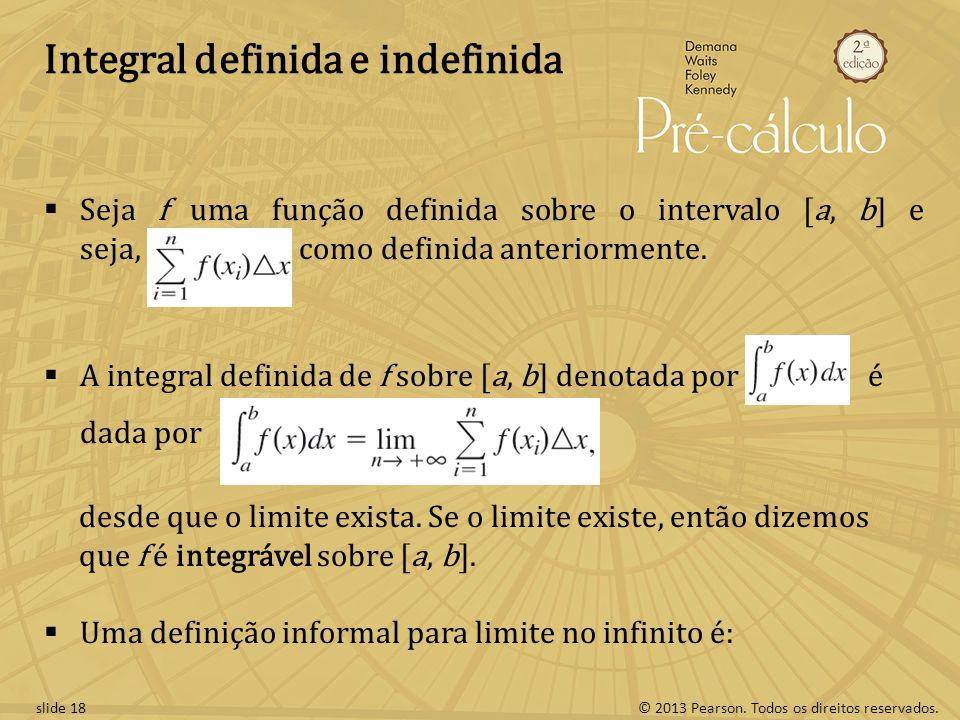 Integral definida e indefinida