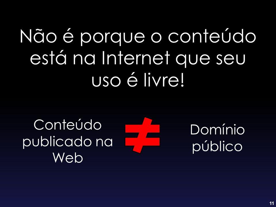 Não é porque o conteúdo está na Internet que seu uso é livre!