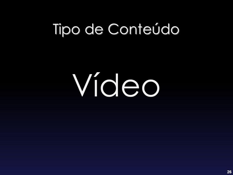 Tipo de Conteúdo Vídeo