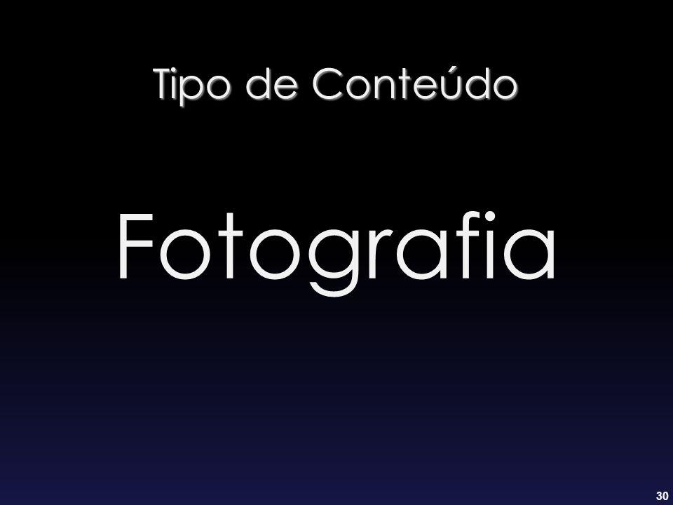 Tipo de Conteúdo Fotografia