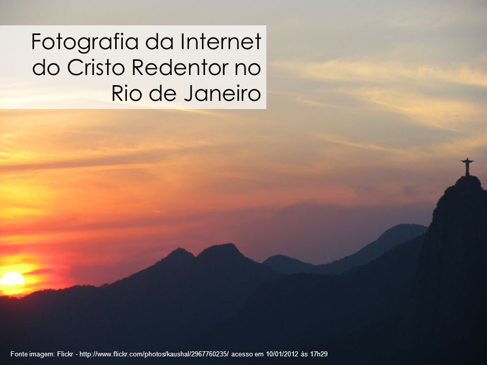 Fotografia da Internet do Cristo Redentor no Rio de Janeiro