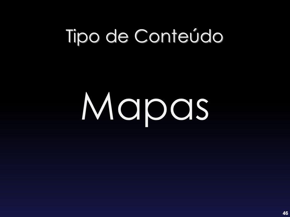Tipo de Conteúdo Mapas