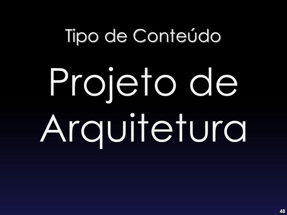Tipo de Conteúdo Projeto de Arquitetura