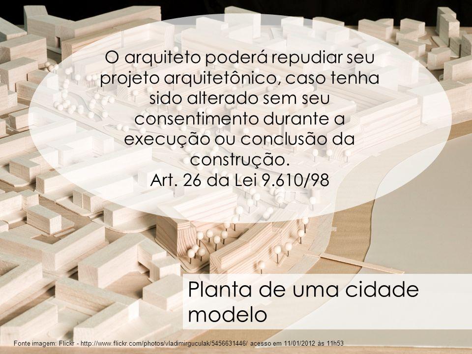 Planta de uma cidade modelo
