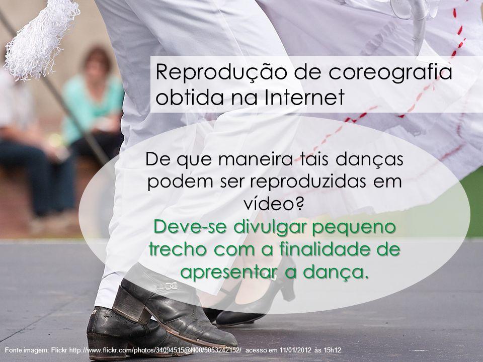 De que maneira tais danças podem ser reproduzidas em vídeo