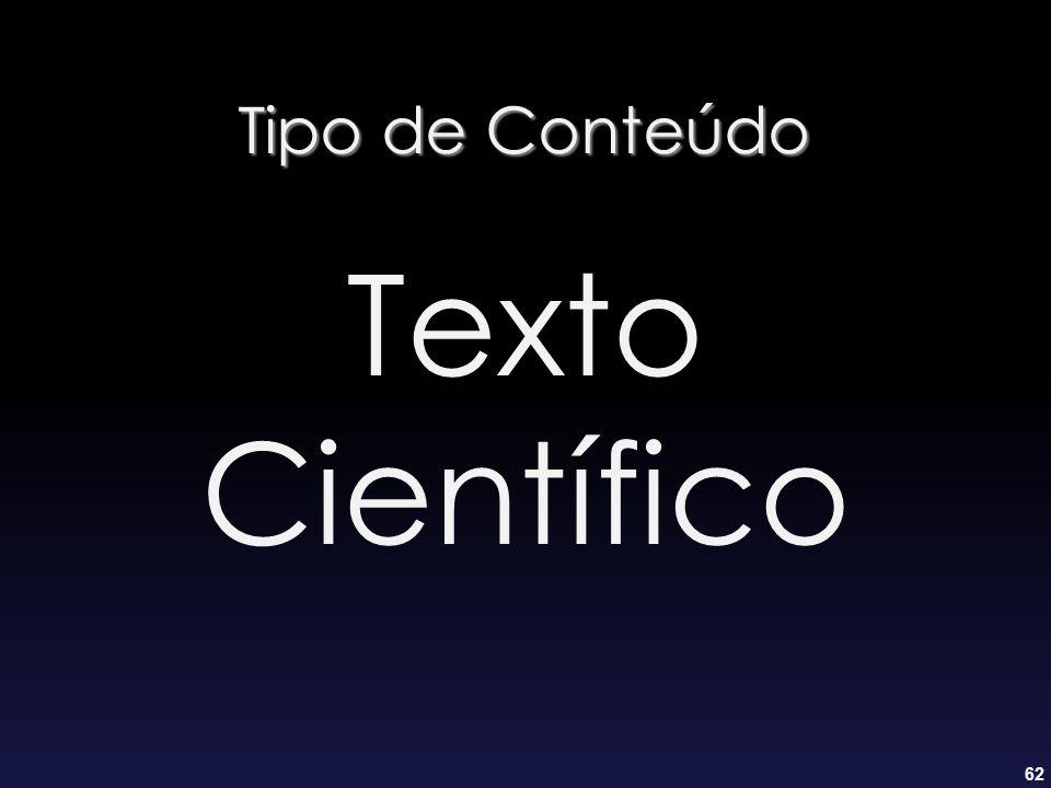 Tipo de Conteúdo Texto Científico
