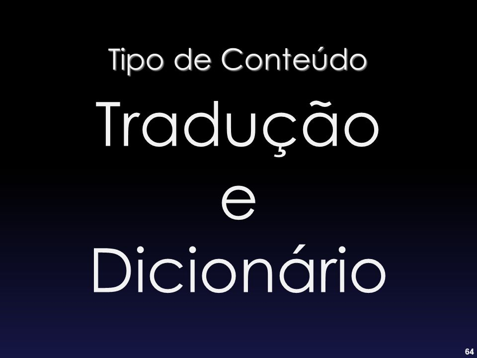 Tipo de Conteúdo Tradução e Dicionário