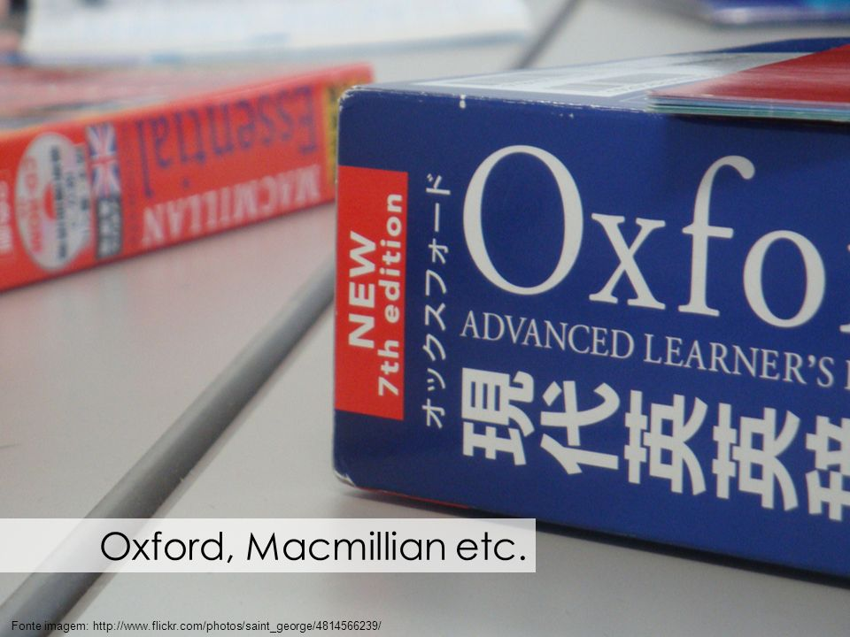Cada dicionário possui sua forma de apresentar a explicação das palavras.