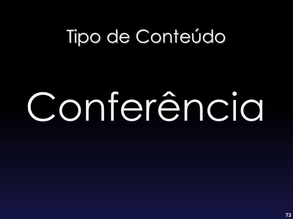 Tipo de Conteúdo Conferência