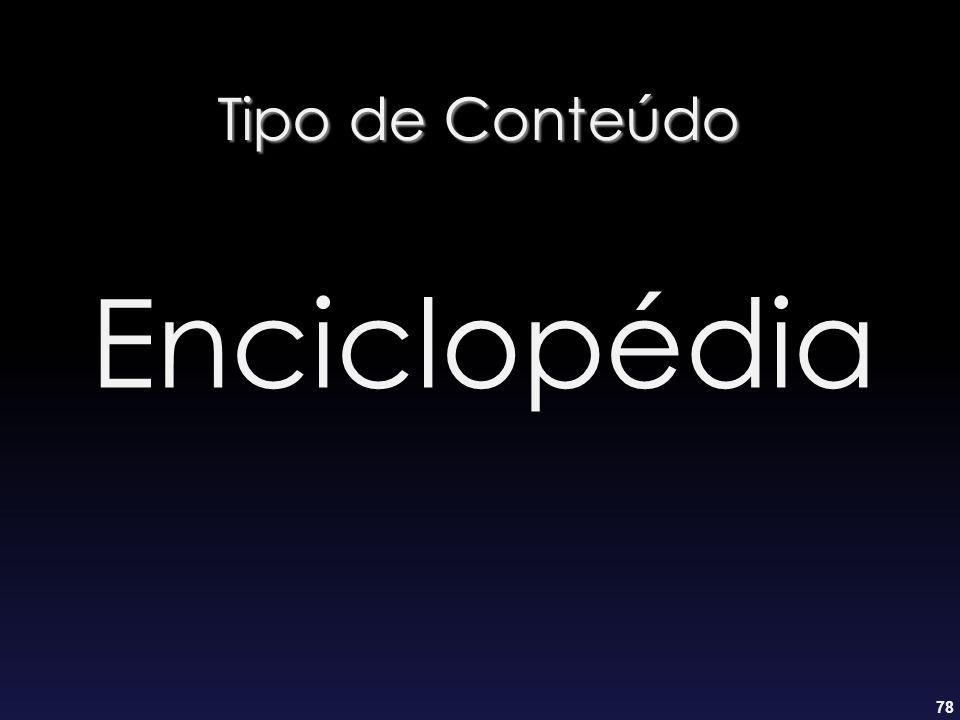 Tipo de Conteúdo Enciclopédia