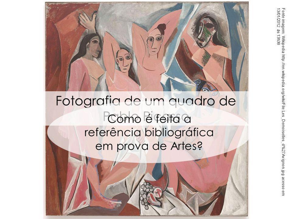 Fotografia de um quadro de Pablo Picasso
