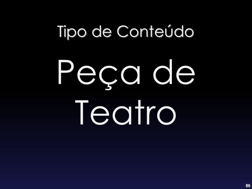 Tipo de Conteúdo Peça de Teatro