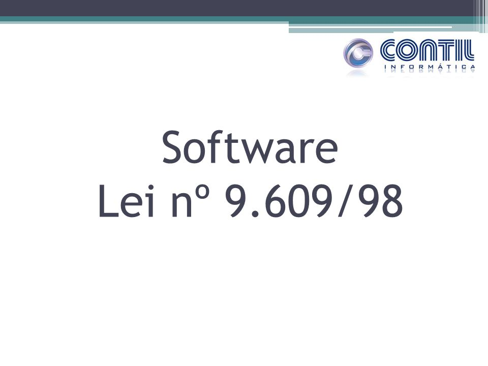 Software Lei nº 9.609/98
