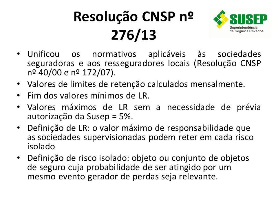 Resolução CNSP nº 276/13