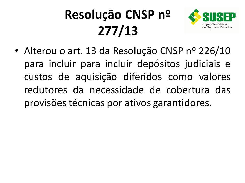 Resolução CNSP nº 277/13