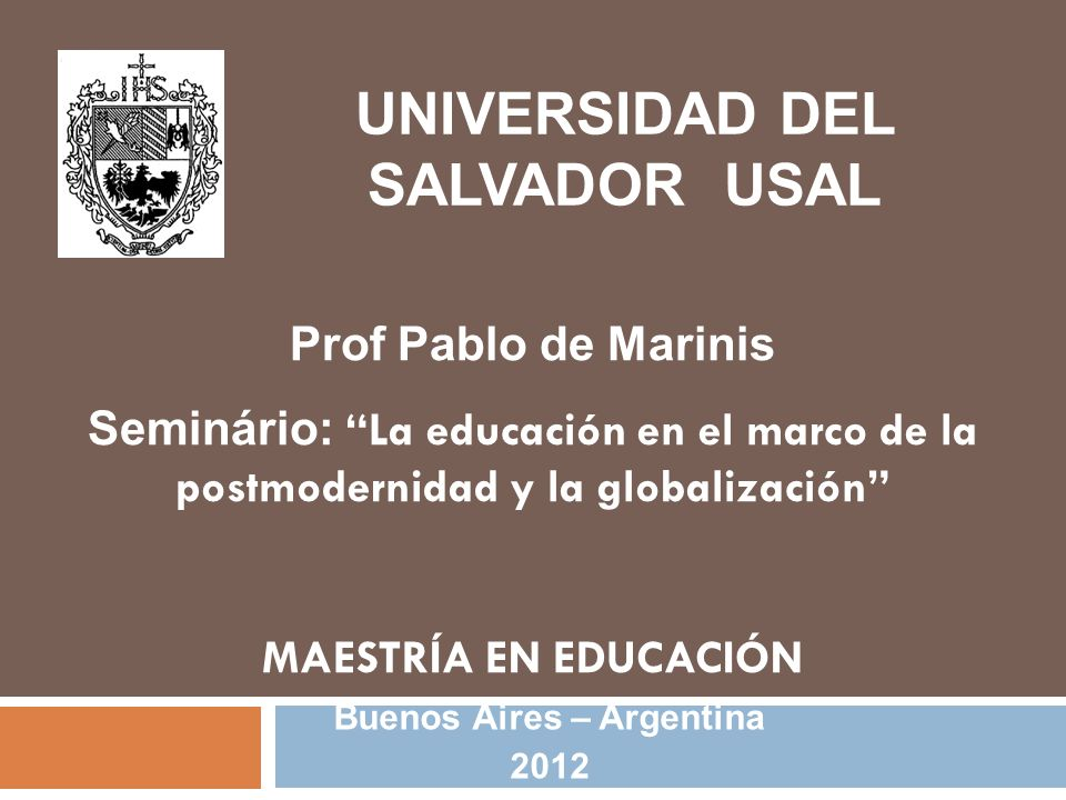Universidad Del Salvador Usal