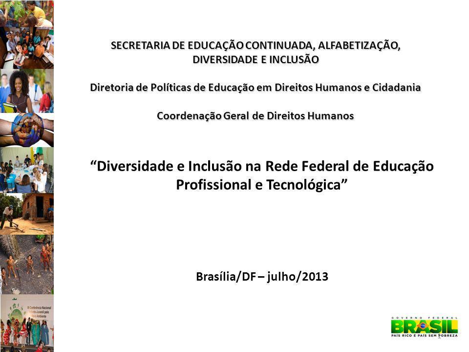 SECRETARIA DE EDUCAÇÃO CONTINUADA, ALFABETIZAÇÃO, DIVERSIDADE E INCLUSÃO Diretoria de Políticas de Educação em Direitos Humanos e Cidadania Coordenação Geral de Direitos Humanos