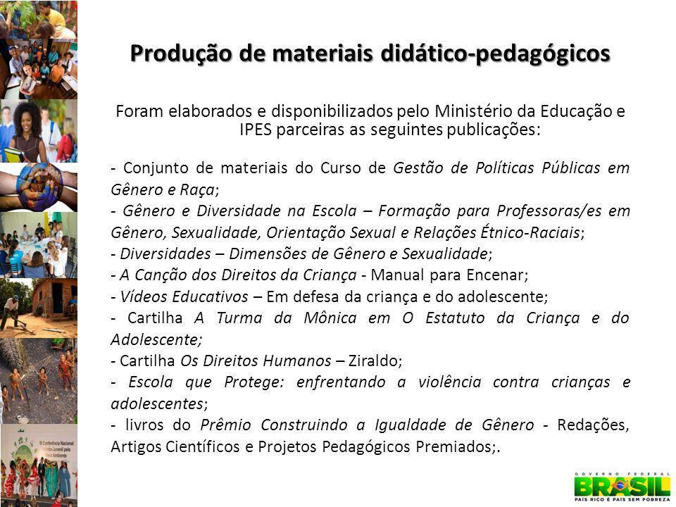 Produção de materiais didático-pedagógicos