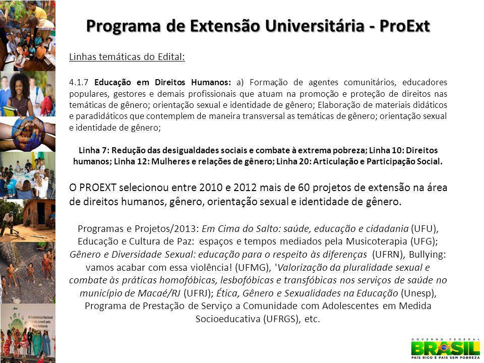Programa de Extensão Universitária - ProExt