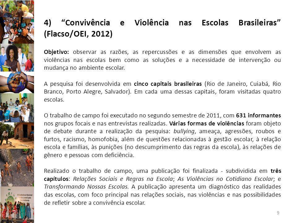 4) Convivência e Violência nas Escolas Brasileiras (Flacso/OEI, 2012)