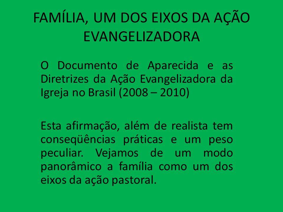 FAMÍLIA, UM DOS EIXOS DA AÇÃO EVANGELIZADORA