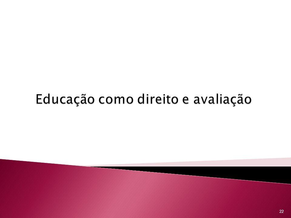 Educação como direito e avaliação