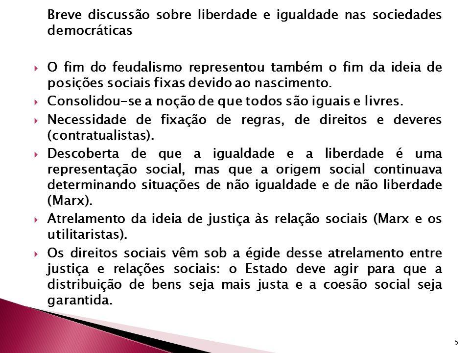 Breve discussão sobre liberdade e igualdade nas sociedades democráticas