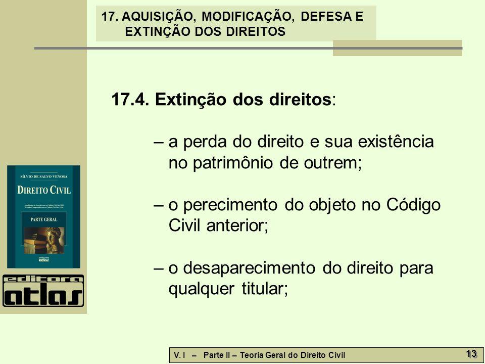 17.4. Extinção dos direitos: